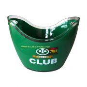 Green double wall ice bucket