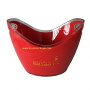 Red label plastic ice bucket1