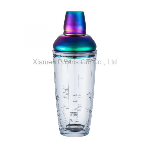 multi-color cocktail shaker